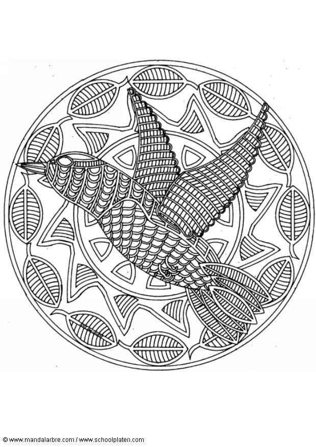 Coloriage Mandala Oiseau Dessin Gratuit A Imprimer