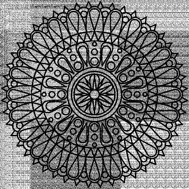Coloriage et dessins gratuits Mandala Pétales à imprimer