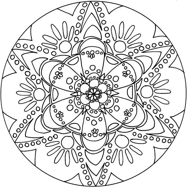 coloriage mandala pour les grands dessin gratuit imprimer. Black Bedroom Furniture Sets. Home Design Ideas