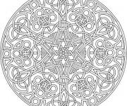 Coloriage Mandala relaxant