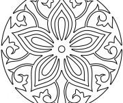 Coloriage Mandala Rose