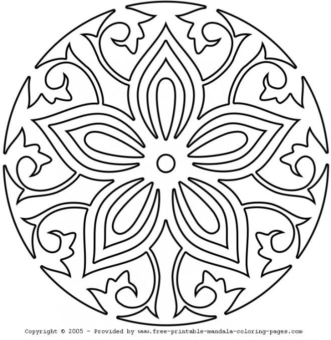 Coloriage et dessins gratuits Mandala Rose à imprimer