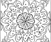 Coloriage Mandala simple