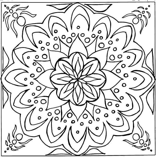 Coloriage et dessins gratuits Mandala simple à imprimer
