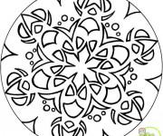 Coloriage Mandala simplifié