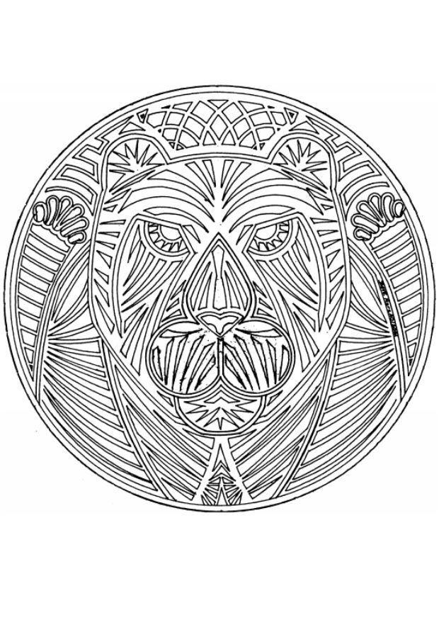 Coloriage et dessins gratuits Mandala Tigre à imprimer