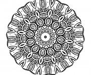 Coloriage et dessins gratuit Mandala vecteur à imprimer