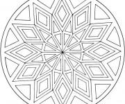 Coloriage Mandalas centralisé