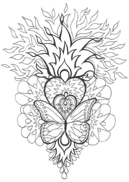 Coloriage Mandalas Papillon dessin gratuit à imprimer