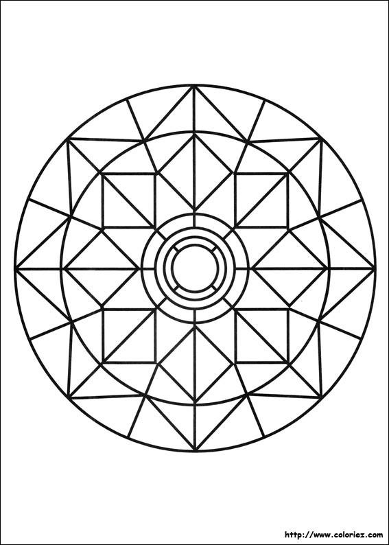 Coloriage et dessins gratuits Mandalas Paques à imprimer