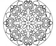 Coloriage Mandalas stylisé