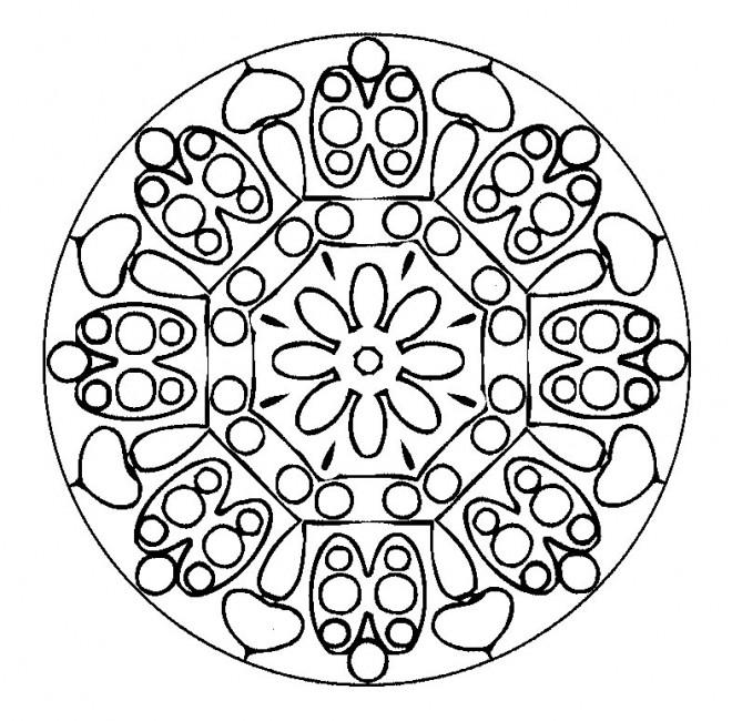 Coloriage et dessins gratuits Mandalas stylisé à imprimer
