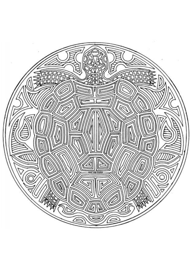 Coloriage et dessins gratuits Mandalas Tortue à imprimer