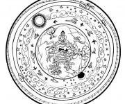 Coloriage Peinture Mandala