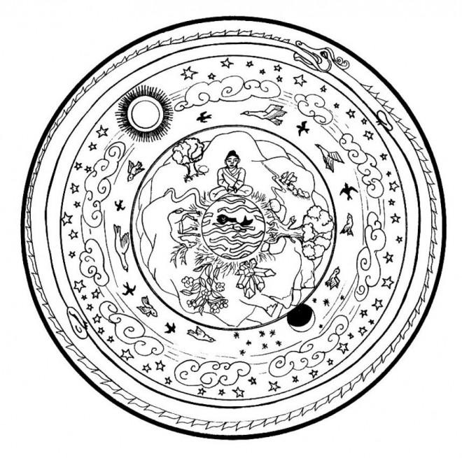 Coloriage et dessins gratuits Peinture Mandala à imprimer