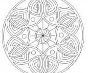 Coloriage Tableau Mandala facile