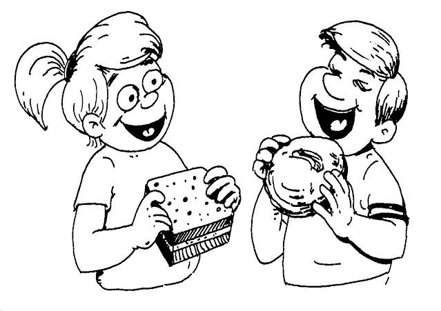 Coloriage et dessins gratuits Alimentation en ligne à imprimer