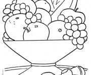 Coloriage et dessins gratuit Fruits sur la table à imprimer