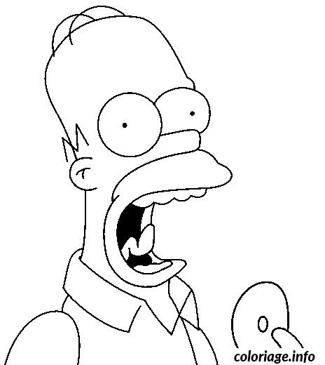 Coloriage et dessins gratuits Homer Mange humoristique à imprimer