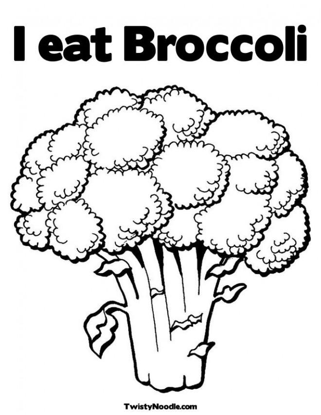 Coloriage et dessins gratuits Je Mange Le brocoli à imprimer