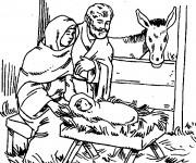 Coloriage et dessins gratuit Jésus maternelle à imprimer