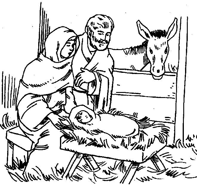 Coloriage et dessins gratuits Jésus maternelle à imprimer