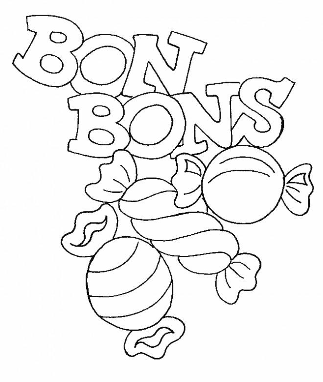 Coloriage et dessins gratuits Les Bonbons pour enfant à imprimer
