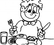 Coloriage dessin  Manger 1