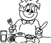 Coloriage et dessins gratuit Manger couleur à imprimer