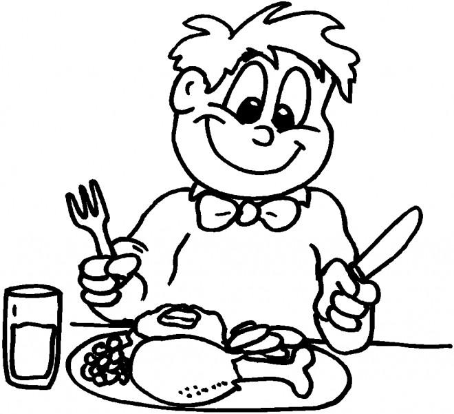 Coloriage et dessins gratuits Manger couleur à imprimer