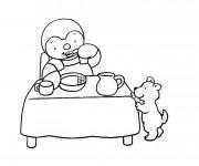 Coloriage Manger Dessin animé