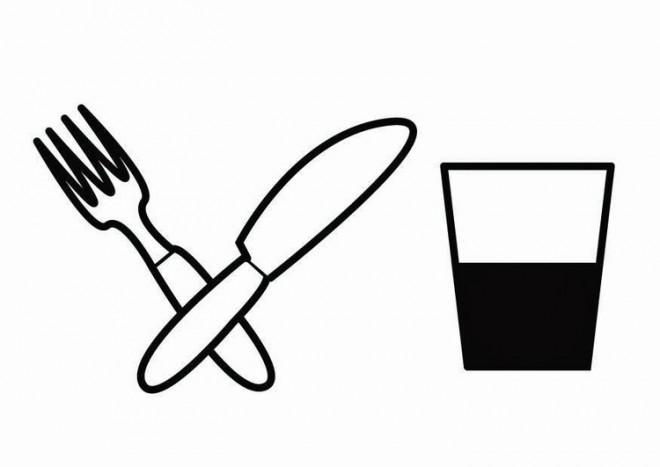 Coloriage et dessins gratuits Manger Fourchette et Couteau à imprimer