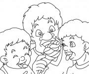 Coloriage et dessins gratuit Manger La Glace à imprimer