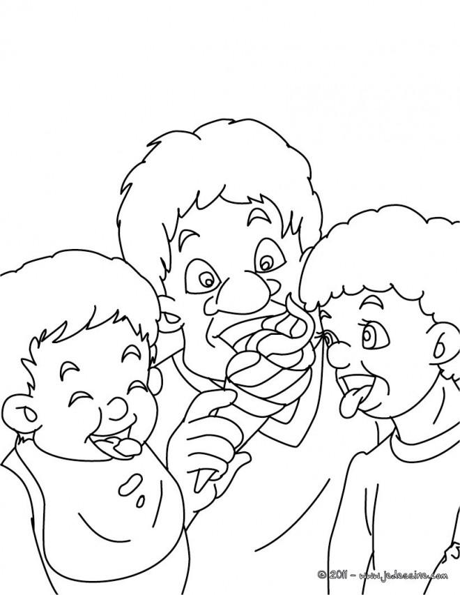 Coloriage et dessins gratuits Manger La Glace à imprimer