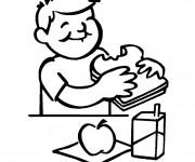 Coloriage et dessins gratuit Manger le Petit Déjeuner à imprimer