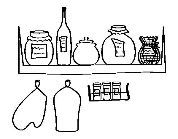 Coloriage Ingredients Gateau.Coloriage Manger Les Ingredients Dessin Gratuit A Imprimer