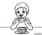 Coloriage et dessins gratuit Manger pastèque à imprimer