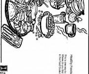 Coloriage et dessins gratuit Nourriture saine à imprimer
