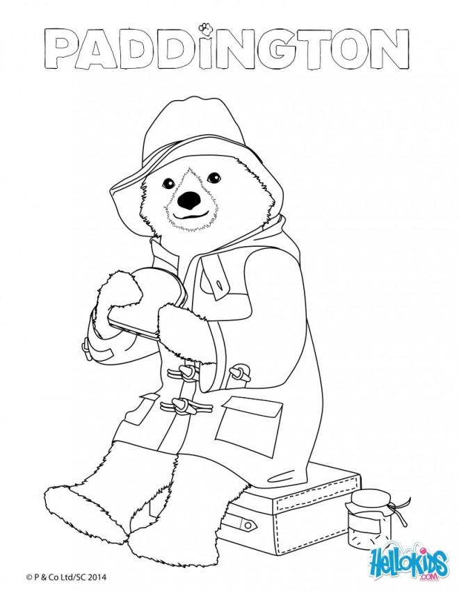 Coloriage Paddington Mange Un Sandwich Dessin Gratuit à Imprimer