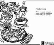 Coloriage et dessins gratuit Repas nutritif à imprimer