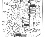 Coloriage et dessins gratuit Afrique 3 à imprimer