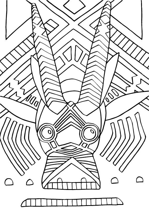 Coloriage et dessins gratuits Animal Africain en Ligne à imprimer
