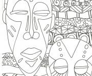 Coloriage Des Masques Africains Art Visuel