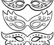 Coloriage Des Masques de Carnaval