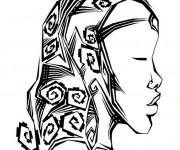 Coloriage Femme Africaine artistique