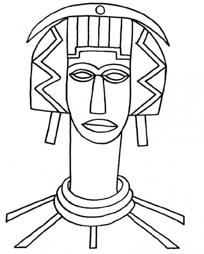 Coloriage et dessins gratuits Femme africaine avec un long cou à imprimer