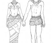 Coloriage Femme et Homme Africains