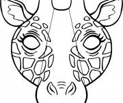 Coloriage dessin  Girafe 48
