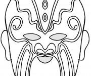 Coloriage et dessins gratuit Masque 38 à imprimer
