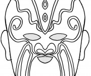 Coloriage et dessins gratuit Masque à télécharger à imprimer